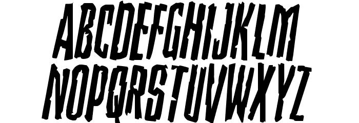 Stranger Danger Rotated Font LOWERCASE