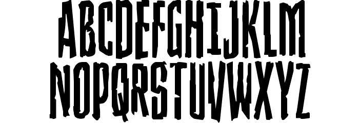 Stranger Danger Staggered Font UPPERCASE
