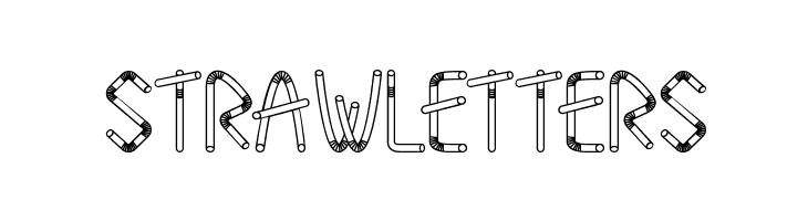 Straw Letters  les polices de caractères gratuit télécharger