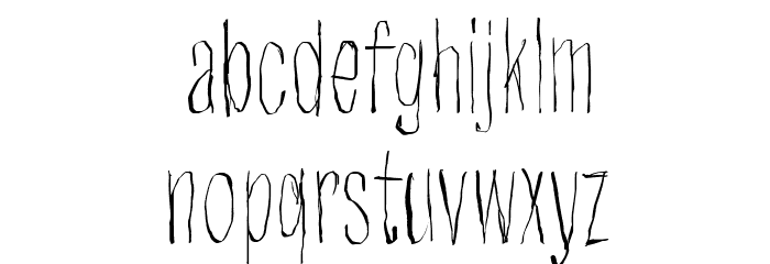 Strawobbly Font LOWERCASE