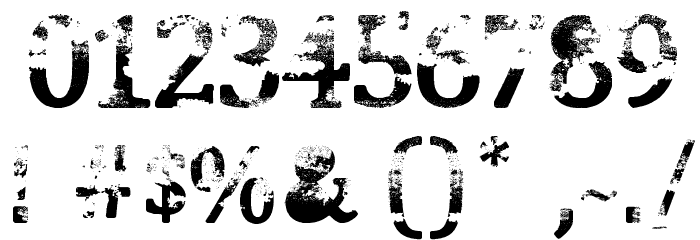 Street Blues Font OTHER CHARS