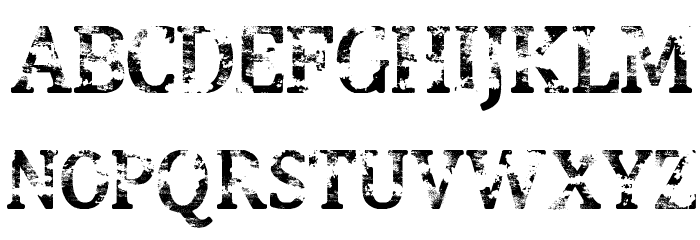 Street Blues Font UPPERCASE