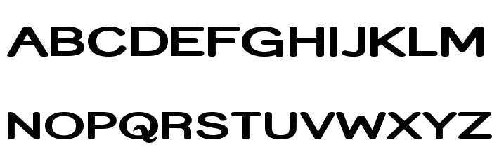 Street Bold Expanded Font UPPERCASE
