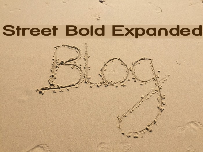 Street Bold Expanded Font examples