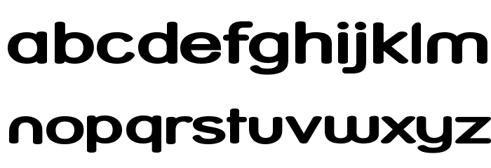 Street Bold Expanded Font LOWERCASE