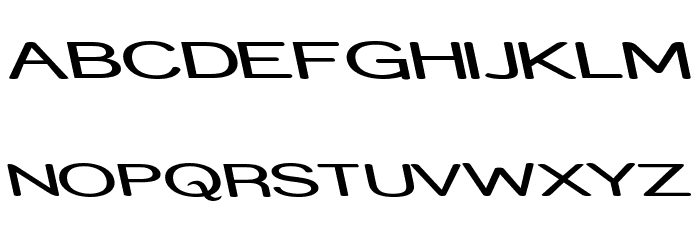 Street - Expanded Reverse Italic Font UPPERCASE