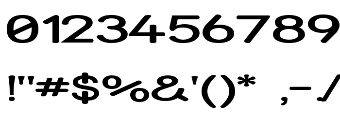 Street - Expanded Semi Font OTHER CHARS