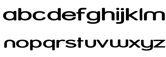 Street - Expanded Semi Font LOWERCASE