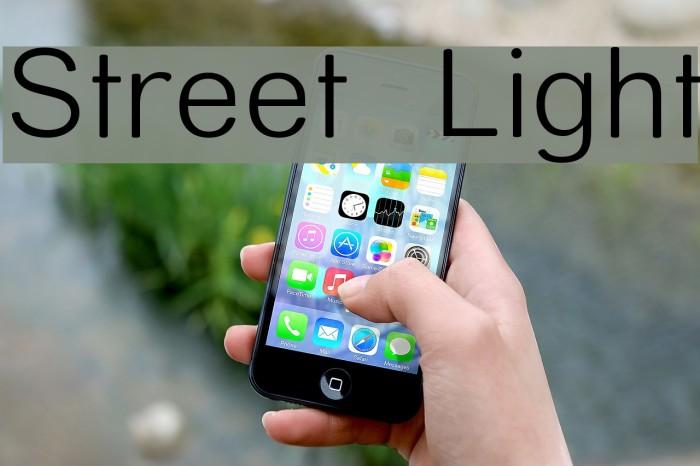 Street  Light Font examples