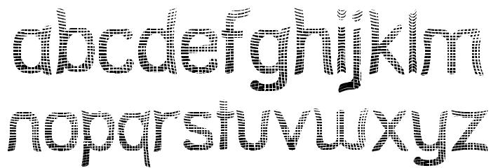 Street Net Font LOWERCASE