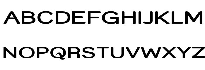 Street  SemiBold Expanded Font UPPERCASE