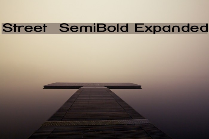 Street  SemiBold Expanded Font examples