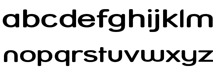 Street  SemiBold Expanded Font LOWERCASE