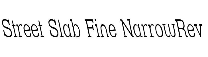 Street Slab Fine NarrowRev  Free Fonts Download