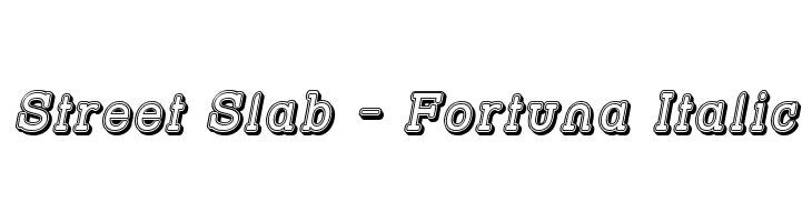 Street Slab - Fortuna Italic  Free Fonts Download
