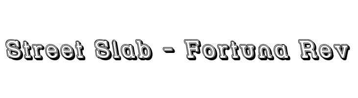 Street Slab - Fortuna Rev  Descarca Fonturi Gratis