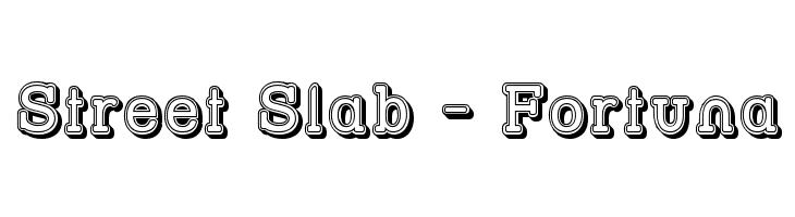 Street Slab - Fortuna  नि: शुल्क फ़ॉन्ट्स डाउनलोड