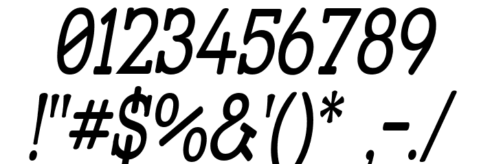 Street Slab - Narrow Italic फ़ॉन्ट अन्य घर का काम