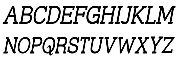 Street Slab - Narrow Italic फ़ॉन्ट अपरकेस