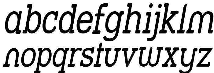Street Slab - Narrow Italic फ़ॉन्ट लोअरकेस