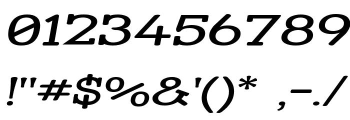 Street Slab - Super Wide Italic Font OTHER CHARS