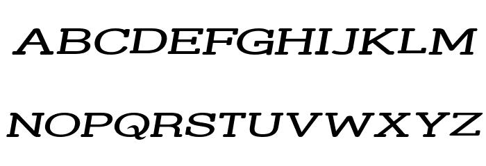 Street Slab - Super Wide Italic Font UPPERCASE