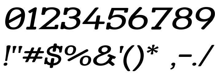 Street Slab Upper - Wide Italic Font OTHER CHARS