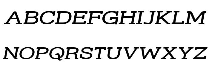 Street Slab Upper - Wide Italic Font UPPERCASE