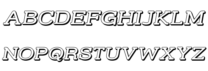 Street Slab - Wide 3D Italic Font UPPERCASE