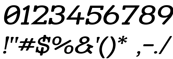 Street Slab - Wide Italic Font OTHER CHARS