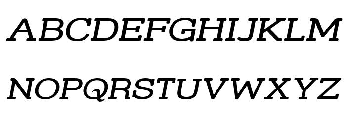 Street Slab - Wide Italic Font UPPERCASE
