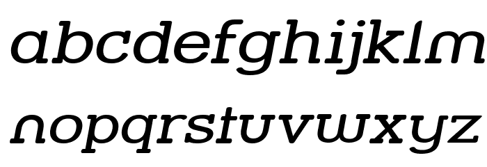 Street Slab - Wide Italic Font LOWERCASE