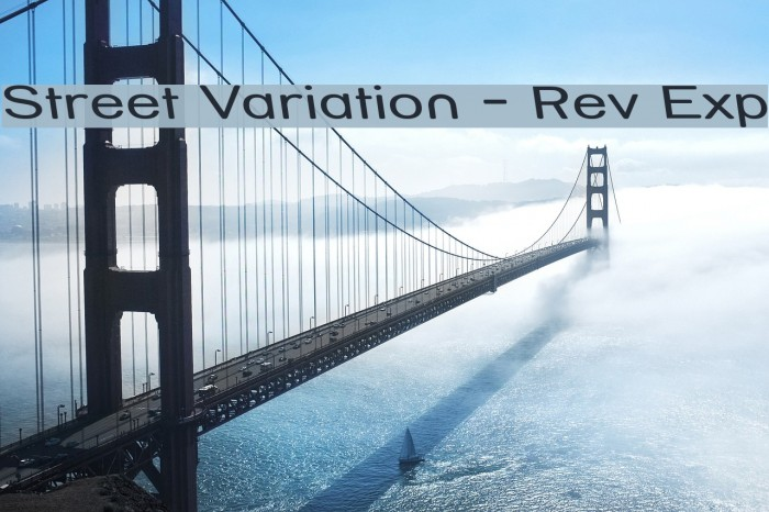Street Variation - Rev Exp Font examples
