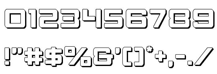 Strike Fighter 3D Schriftart Anderer Schreiben