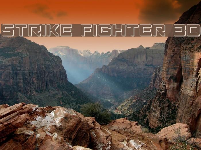 Strike Fighter 3D Schriftart examples
