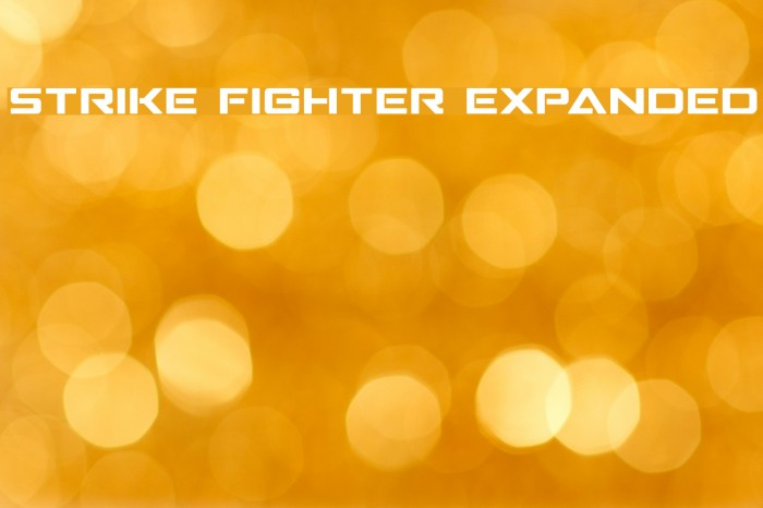Strike Fighter Expanded Schriftart examples