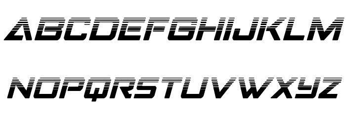 Strike Fighter Halftone Italic لخطوط تنزيل صغيرة