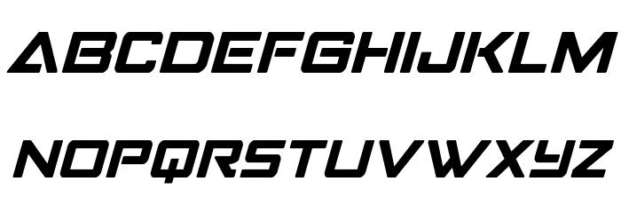 Strike Fighter Italic Schriftart Groß