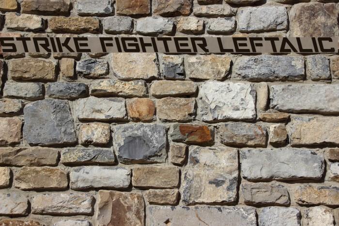 Strike Fighter Leftalic Schriftart examples