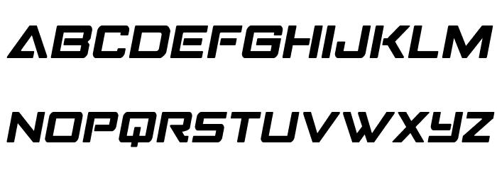 Strike Fighter Semi-Italic Schriftart Groß