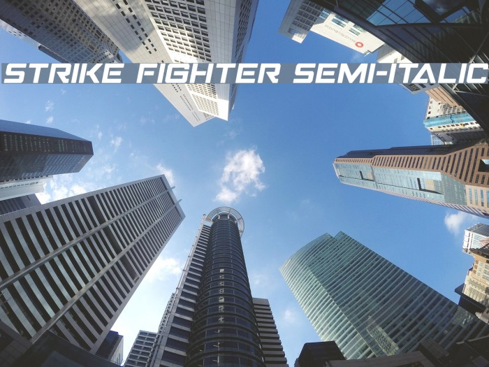 Strike Fighter Semi-Italic Polices examples