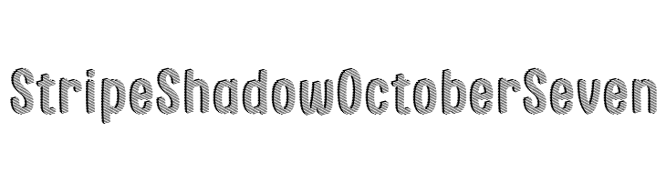 Stripe Shadow October Seven  Free Fonts Download