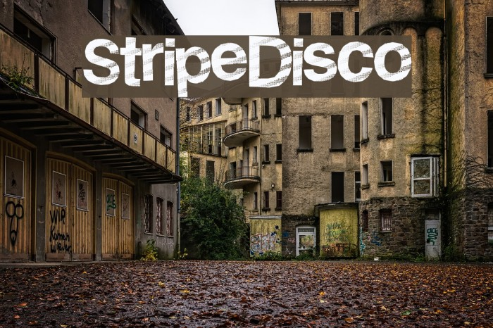 StripeDisco Font examples