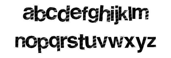 StripeDisco Font LOWERCASE