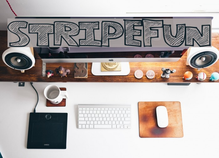 StripeFun Font examples