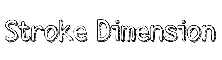 Stroke Dimension  Free Fonts Download