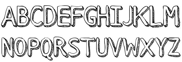 Stroke Dimension Font UPPERCASE