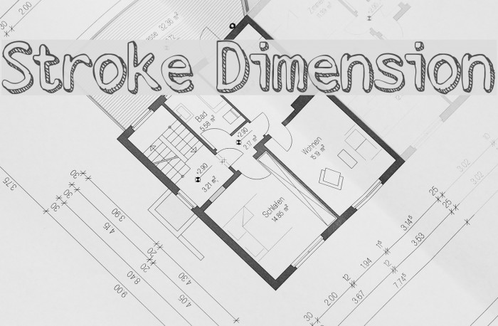 Stroke Dimension Font examples