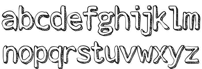 Stroke Dimension Font LOWERCASE