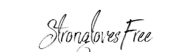 StronglovesFree  Frei Schriftart Herunterladen